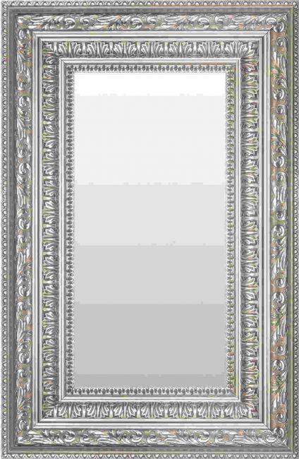 Barok Spiegel Zilver Zwart 78x118 cm - Shiva