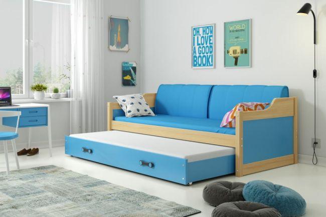 Bed met Onderbed Blauw 90 x 200 - `Teen Life Blue'