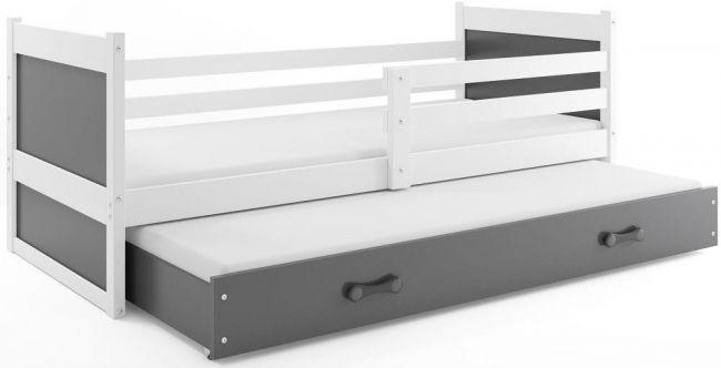 Bed met Onderbed 90x200 cm Grijs  - `Kids Life Grey'