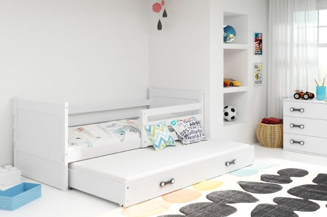 Bed met Onderbed wit 90 x 200 - `Kids Life White'