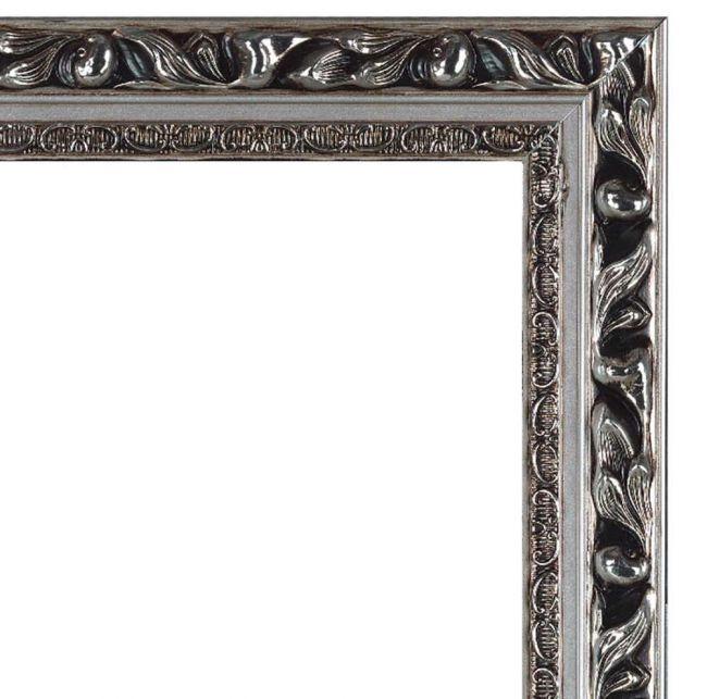 Brocante Spiegel Zilver 51x141 cm - Paola