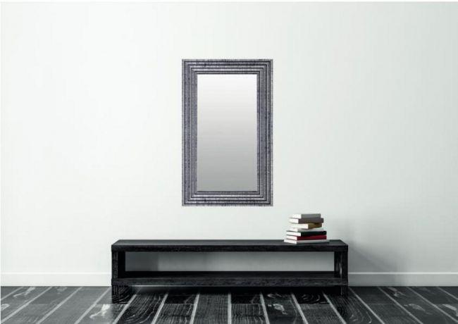 Chique Spiegel Zwart Zilver 47x97 cm - Svea