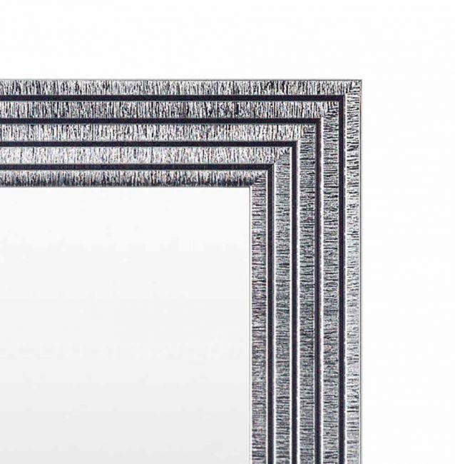 Chique Spiegel Zwart Zilver 53x73 cm - Svea