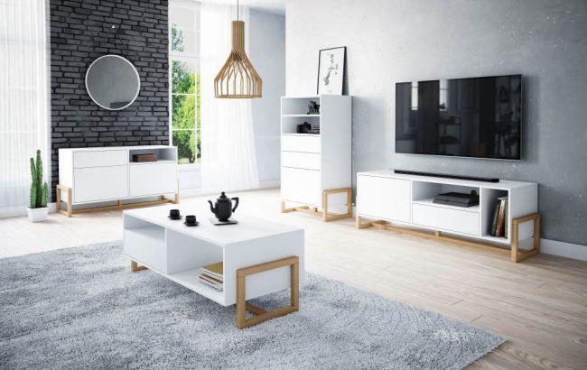 Dressoir Scandinavisch Wit – 64x42x116 cm