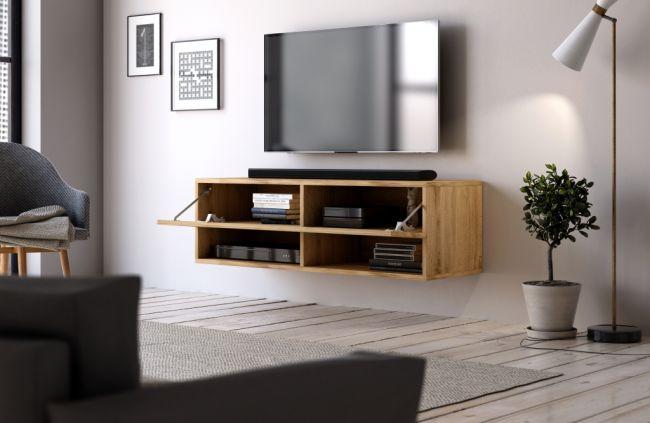 Hangend Tv Meubel Eiken 100 cm