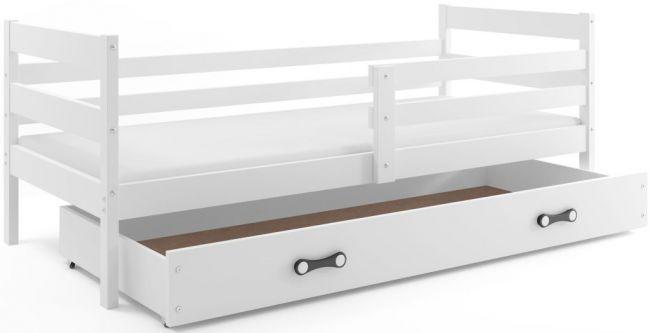 Kinderbed met uitschuiflade Hout Wit 90x190 cm -  ´Rookie Woody white´