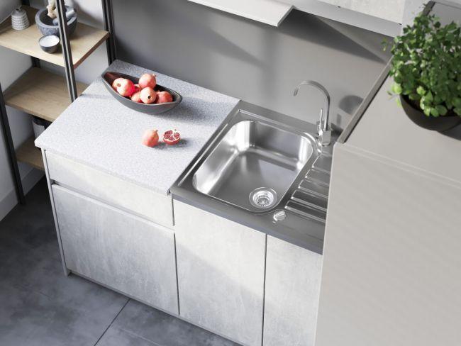 Kleine keuken 140 cm - Betonlook