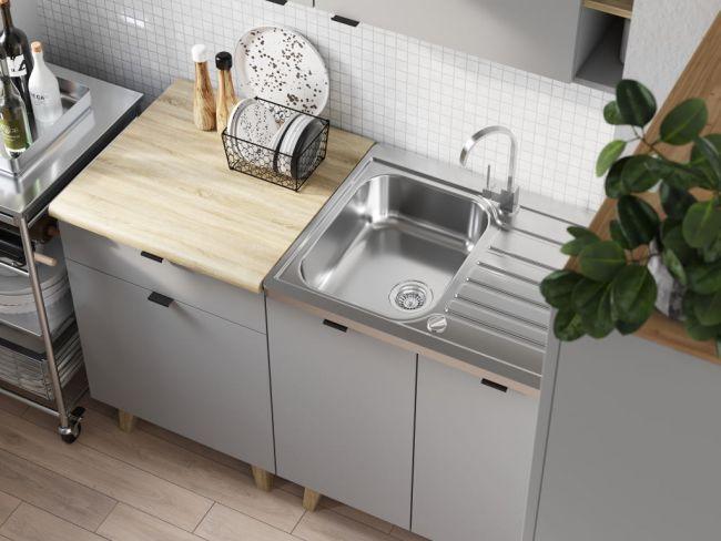 Kleine keuken 140 cm - Scandinavisch