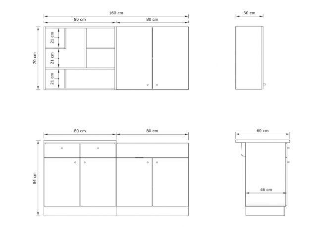 Kleine keuken 160 cm - Modern