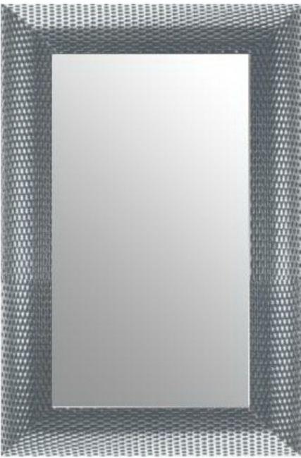 Moderne Spiegel Wit Zilver 70x110 cm - Zoe