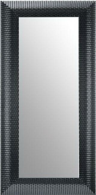 Moderne Spiegel Zwart Zilver 48x98 cm - Zoe