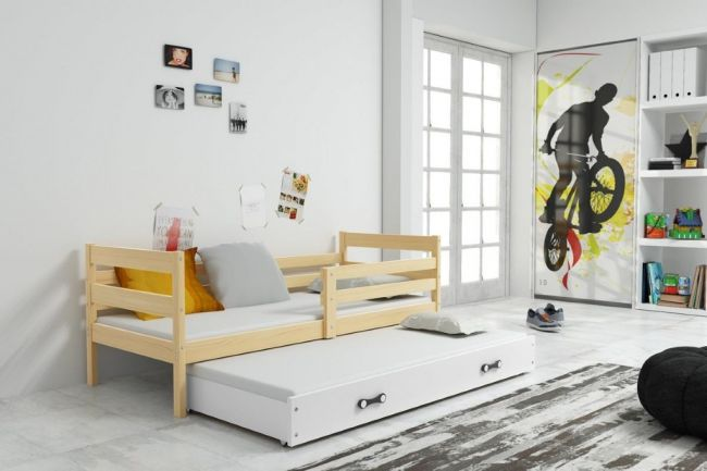 Onderschuifbed Hout 90x200 - `Sleep Life Wood'