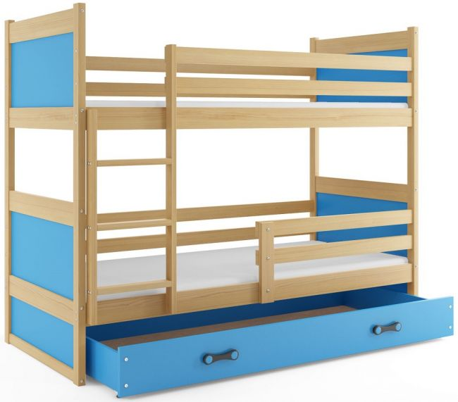 Peuter Stapelbed met lade Blauw - `Double Rookie Blue'