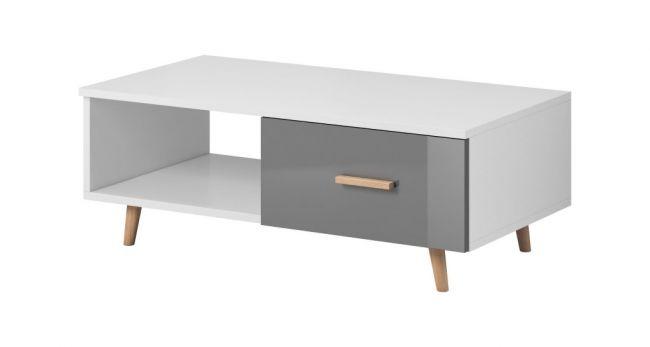 Salontafel Wit & Grijs Scandinavisch Design