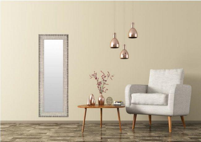Spiegel Modern Bruin & Creme 70x110 cm - Hermine