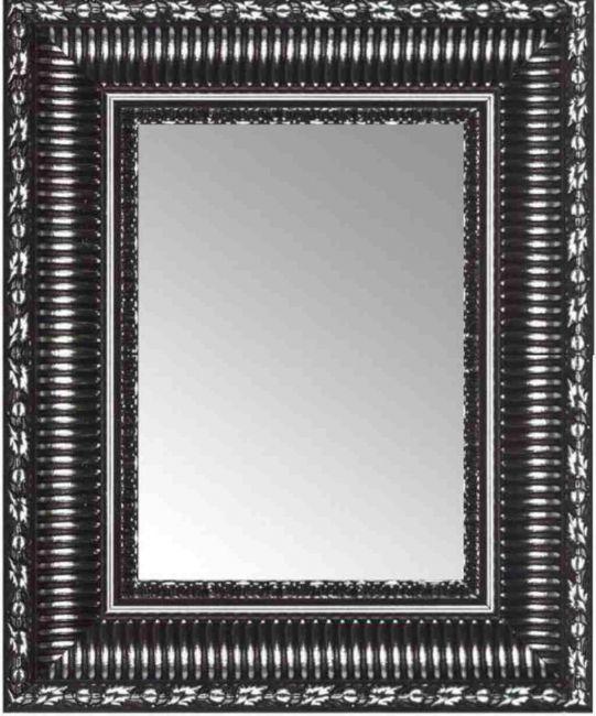 Spiegel Zwart Zilver 57x77 cm - Smilla