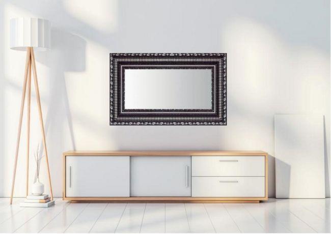 Spiegel Zwart Zilver 73x113 cm - Smilla