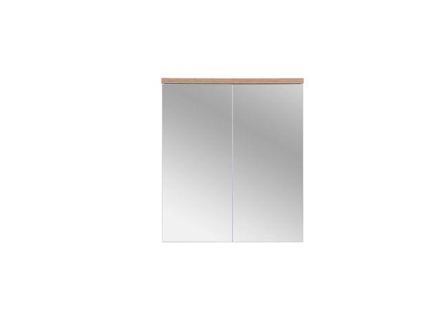 Spiegelkast Badkamer 69,5x60 cm Wit Eiken - Bloom