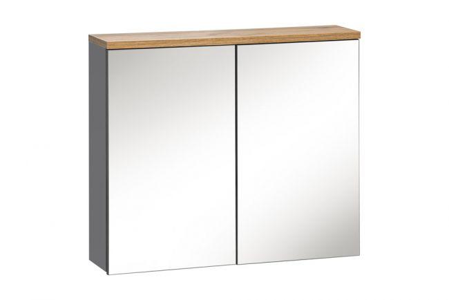 Spiegelkast Badkamer 69,5x80 cm Grijs Eiken - Bloom