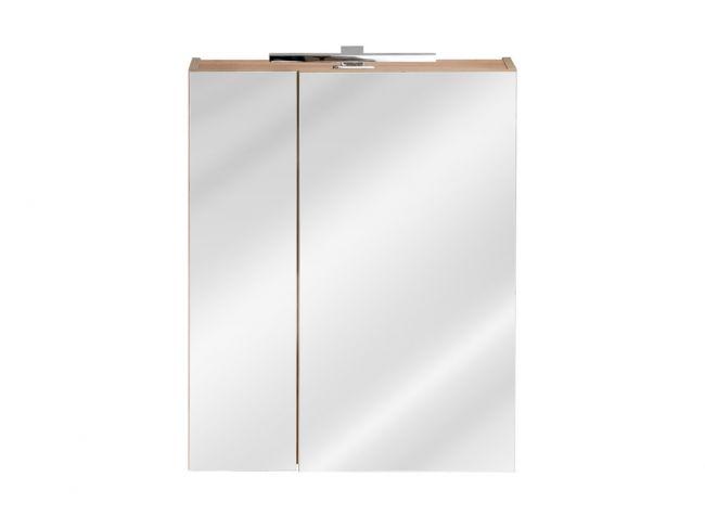 Spiegelkast Badkamer 75x60 cm Eiken - Brenda