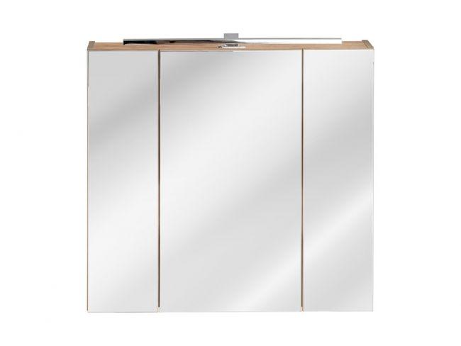 Spiegelkast Badkamer 75x80 cm Eiken - Brenda