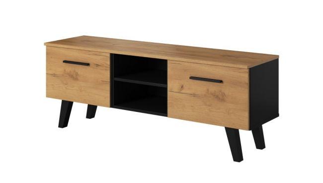 TV Meubel Zwart & Eiken 140 cm - Scandinavisch Design