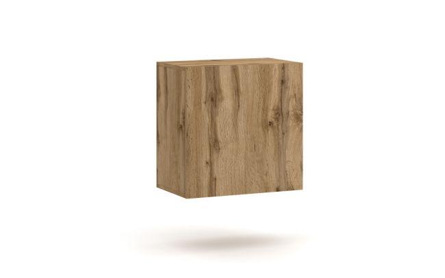 Wandmeubel Set - 7 delig & LED - Wotan Eiken