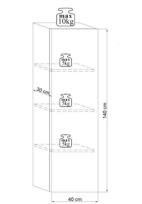 Wandmeubel Set - 7 delig & LED - Zwart & Hoogglans Zwart
