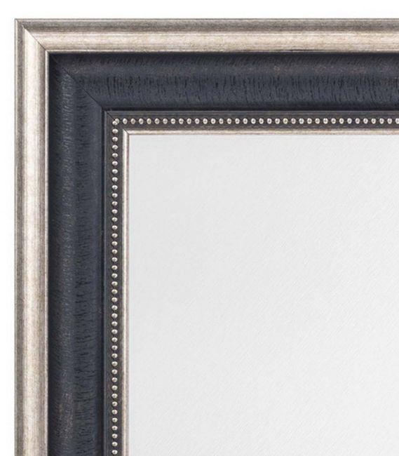 Zwart Zilveren Spiegel Chique 52x72 cm - Pria