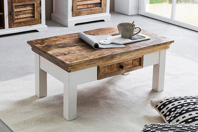 Een natuurlijke touch met onze salontafel van mangohout