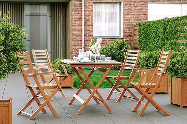 Maak jouw tuin perfect met onze hardhouten tuinstoelen!