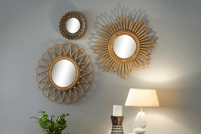 Hoe stijl je een rotan spiegel?